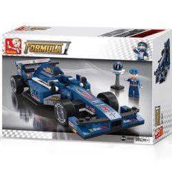 sluban m38 b0353 Sluban B0353 Formula Blue Car Racing Juego de construcción por bloques de plástico compatibles con Lego y otras marcas. Una forma fácil y divertida de construir tus primeros modelos y favorecer el desarrollo e imaginación .