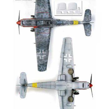 academy 12225 Messerschmitt Bf 109T-2 Kit en plástico para montar y pintar. Incluye en resina la extensión de las alas para la versión Bf 109T-2 Hoja de calcas impresa por Cartograf.