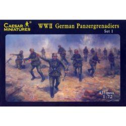 caesar h052 WWII German Panzergrenadiers set 1 43 figuras de plástico en 13 posturas distintas. Requieren montaje y pintura.