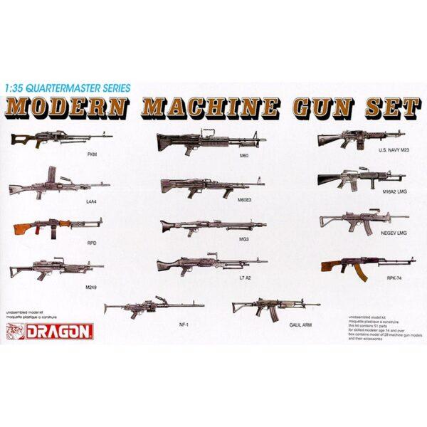 dragon 3806 Modern Machine Gun Set Kit en plástico para montar y pintar. Incluye diferentes ametralladoras modernas de distintos países ( 2 unidades de cada modelo)