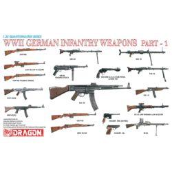 dragon 3809 WWII German Infantry Weapons Part 1 Kit en plástico para montar y pintar. Incluye diferentes armas alemanas de la 2ª Guerra Mundial ( 2 unidades de cada modelo)