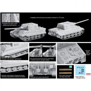 dragon 7563 Sd.Kfz.186 Jagdtiger Henschel Production Type Kit en plástico para montar y pintar. Dos opciones de decoración