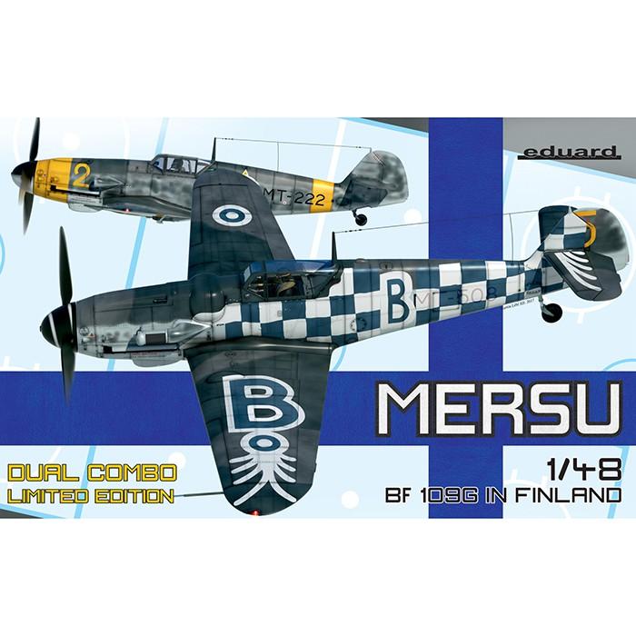 eduard 11114 Mersu Messerschmitt Bf 109G in Finland Dual Combo 1/48 Kit en plástico para montar y pintar el caza Bf 109G-2/6 con la aviación Finlandesa durante la 2ª GM y la postguerra.