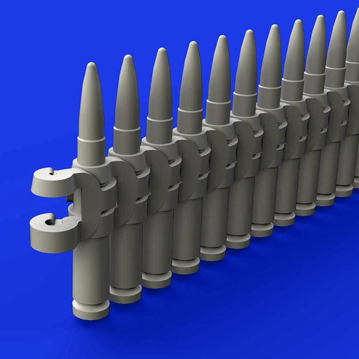 eduard brassin 648341 Ammo belts 12,7 mm 1/48 Kit en resina de la cinta de munición de 12.7mm. El set incluye 4 tiras de longitud 70mm