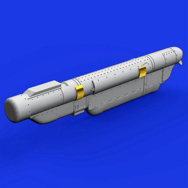 eduard brassin 648362 AN/ ALQ-184 Short ECM pod 1/48 Kit en resina del Equipo de Contramedidas Electrónicas AN/ ALQ-184 utilizado por los F-16 y A-10.
