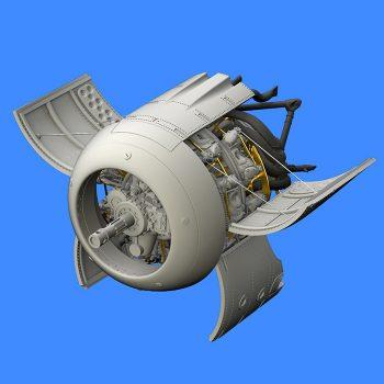 eduard brassin 648364 Focke Wulf Fw 190A-3 Engine 1/48 Kit en resina del motor para el Fw 190A-3.