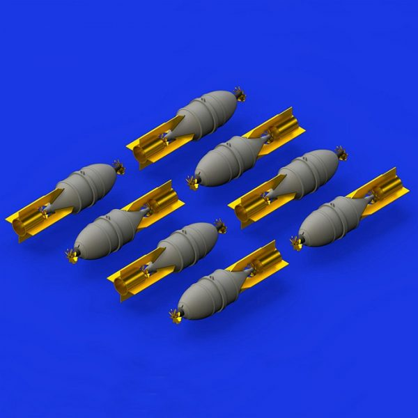 eduard brassin 648376 FAB 100 Soviet WWII bombs 1/48 Kit en resina de la bomba soviética de la 2ªGM de 100Kg.