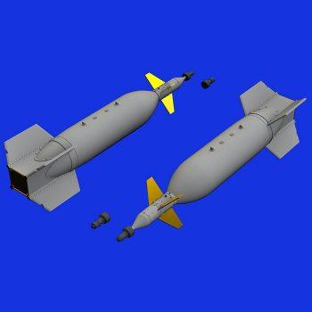 eduard brassin 672161 US Laser-Guided bomb GBU-11 1/72 Kit en resina de la bomba guiada por laser GBU-11 de la época de la Guerra de Vietnam.