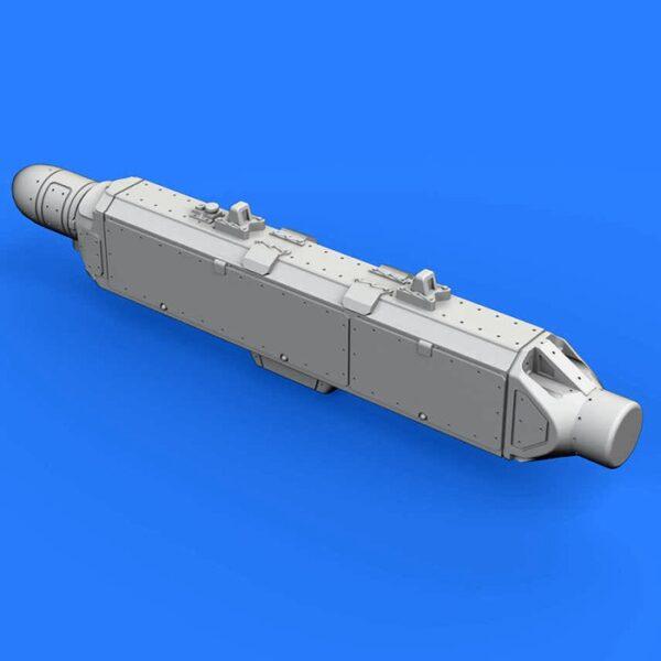 eduard brassin 672162 ECM pod AN/ALQ-131 Shallow 1/72 Kit en resina del dispositivo de contramedidas electrónicas AN/ALQ-131 utilizado en los aviones: A-7, A-10, F-4, F-16, F-111, C-130.