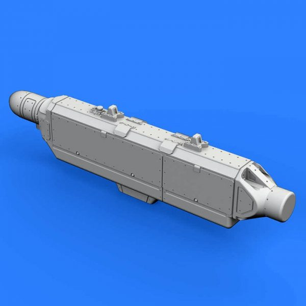 eduard brassin 672163 ECM pod AN/ALQ-131 Deep 1/72 Kit en resina del dispositivo de contramedidas electrónicas AN/ALQ-131 utilizado en los aviones: A-7, A-10, F-4, F-16, F-111, C-130.