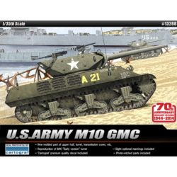 Academy 13288 US Army M10 GMC 70th Anniversary Normandy Invasion 1944 Kit en plástico para montar y pintar. Incluye los protectores de los focos en fotograbado.