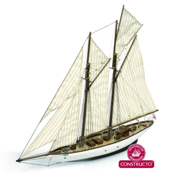 constructo 80710 Altair yate de crucero 1931 1/67 Kit de construcción tradicional en madera y metal. Casco hueco tradicional con falsa quilla y costillas precortadas de fabrica.