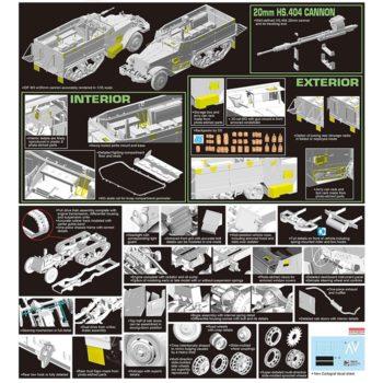 dragon models 3598 IDF M3 w/20mm Hispano-Suiza HS .404 Cannon Kit en plástico para montar y pintar. Incluye piezas en fotograbado y equipo personal en DS.