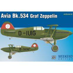 eduard 7445 Avia Bk-534 Graf Zeppelin 1/72 Weekend Edition Kit en plástico para montar y pintar de la serie Weekend Eduard. Hoja de calcas con 2 decoraciones