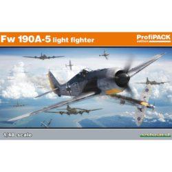 eduard 82143 Focke Wulf Fw 190A-5 light fighter 1/48 profiPACK Kit en plástico para montar y pintar de la serie profiPACK de Eduard. Incluye piezas en fotograbado y mascarillas. Hoja de calcas con 5 decoraciones