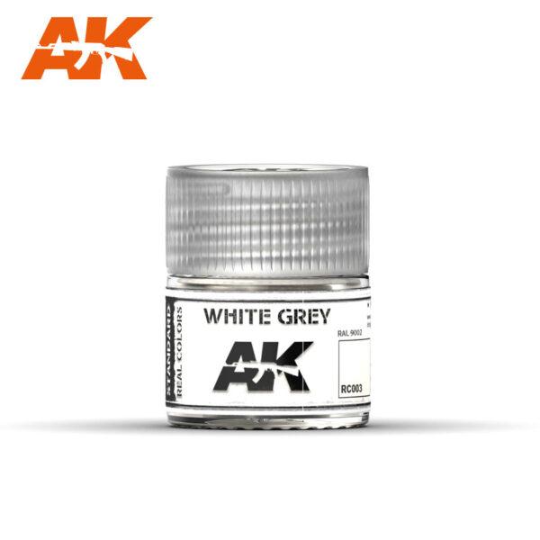 RC003 White Grey 10ml Pintura de base laca acrílica de la mayor calidad con tonos precisos para los vehículos militares.
