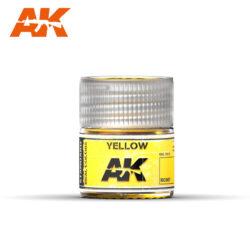 RC007 Yellow 10ml Pintura de base laca acrílica de la mayor calidad con tonos precisos para los vehículos militares.