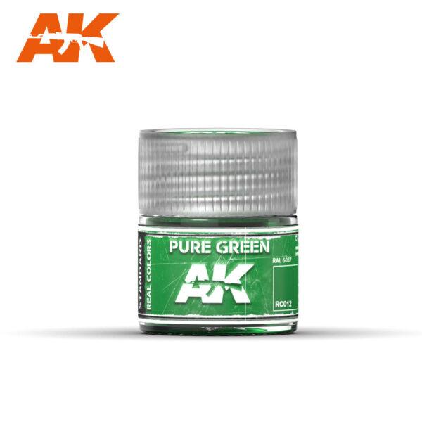 RC012 Pure Green 10ml Pintura de base laca acrílica de la mayor calidad con tonos precisos para los vehículos militares.