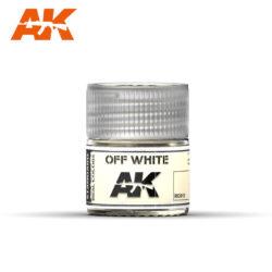 RC013 Off White 10ml Pintura de base laca acrílica de la mayor calidad con tonos precisos para los vehículos militares.