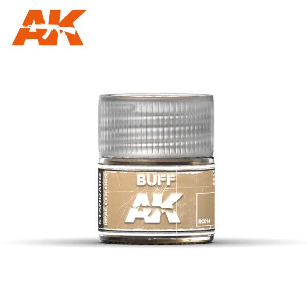 RC014 Buff 10ml Pintura de base laca acrílica de la mayor calidad con tonos precisos para los vehículos militares.