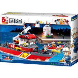 Sluban B0630 Fire Boat Juego de construcción por bloques de plástico compatibles con Lego y otras marcas.