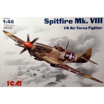 icm 48065 Spitfire Mk VIII US Air Force fighter Kit en plástico para montar y pintar.
