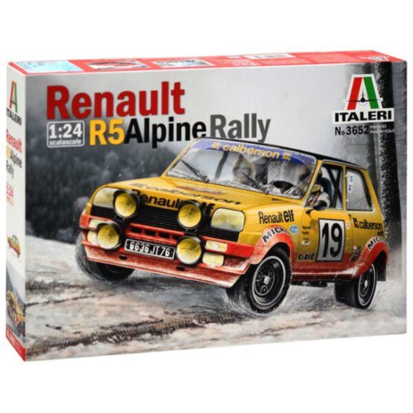 italeri 3652 Renault R5 Alpine Rally Kit en plástico para montar y pintar.