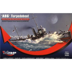 mirage hobby 350505 A 86 German Torpedoboat A/III Class 1/350 German Coastal Operating Torpedo boat type A/III/56 1916 Imperial German Navy Kit en plástico para montar y pintar