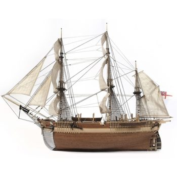 occre 12004 H.M.S. Terror Buque espedicionario 1/65 Kit de construcción tradicional en madera, casco por cuadernas con doble forro.