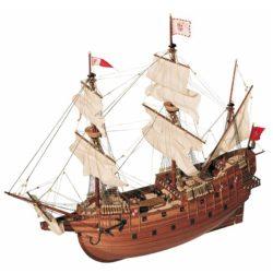 occre 13601 Galeón San Martín 1/90 Kit de construcción tradicional en madera, casco por cuadernas con doble forro.