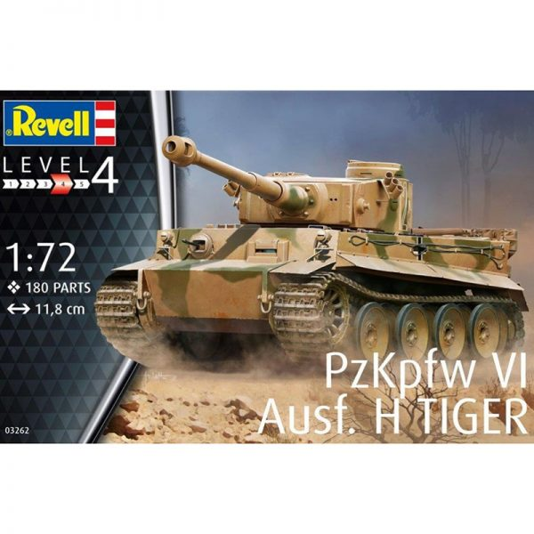 revell 03262 PzKpfw VI Ausf. H TIGER I Early Kit en plástico para montar y pintar.