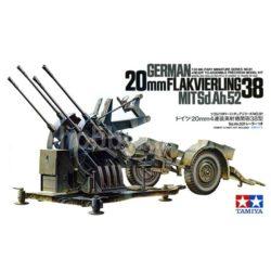 tamiya 35091 20mm Flakvierling 38 MitSd.Ah.52 Kit en plástico para montar y pintar.