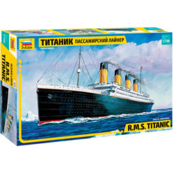 zvezda 9059 RMS Titanic 1/700 Kit en plástico para montar y pintar del famoso trasatlántico HMS Titanic. Piezas 150 Longitud 384 mm