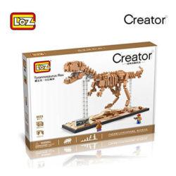 LOZ 9023 Jurassic World Fósil de Dinosaurio Tyrannosaurus Rex 880 pcs Construye una réplica detallada del esqueleto fósil de un Tyrannosaurus Rex con los bloques de montaje mas pequeños del mercado. Incluye base y 2 figuras.