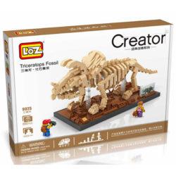 LOZ 9025 Jurassic World Fósil de Dinosaurio Triceratops 660 pcs Construye una réplica detallada del esqueleto fósil de un Triceratops con los bloques de montaje mas pequeños del mercado. Incluye base y 2 figuras.
