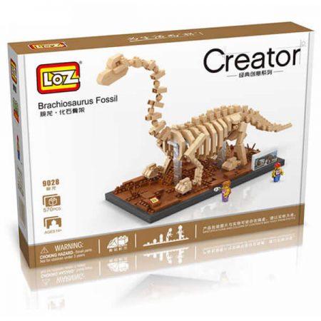LOZ 9028 Jurassic World Fósil de Dinosaurio Brachiosaurus 570 pcs Construye una réplica detallada del esqueleto fósil de un Velociraptor con los bloques de montaje mas pequeños del mercado. Incluye base y 2 figuras.LOZ 9028 Jurassic World Fósil de Dinosaurio Brachiosaurus 570 pcs Construye una réplica detallada del esqueleto fósil de un Velociraptor con los bloques de montaje mas pequeños del mercado. Incluye base y 2 figuras.