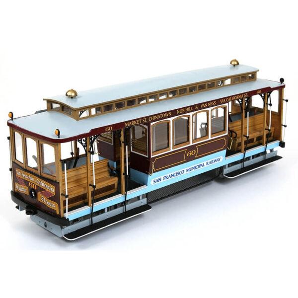 Occre 53007 Cable Car San Francisco 1/24 Kit de montaje en madera y metal, de dificultad media. Incluye instrucciones de montaje paso a paso con planos y fotografías.