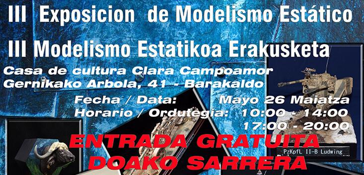 III Exposición de Modelismo Estático en Barakaldo 2018
