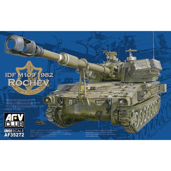 afv club 35272 IDF M109A2 ROCHEV Kit en plástico para montar y pintar. El vehículo representa la versión modificada por los israelíes del M109A2 que entro en combate en la primera guerra del Libano en 1982.