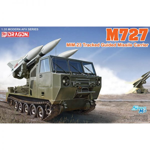 dragon 3583 M727 MiM-23 Tracked Guided Missile Carrier Kit en plástico para montar y pintar. Incluye cadenas por tramos y eslabones individuales.escala 1/35