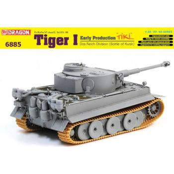 "dragon 6885 Tiger I Early Production ""TiKi"" Das Reich Division (Battle of Kharkov) Kit en plástico para montar y pintar."