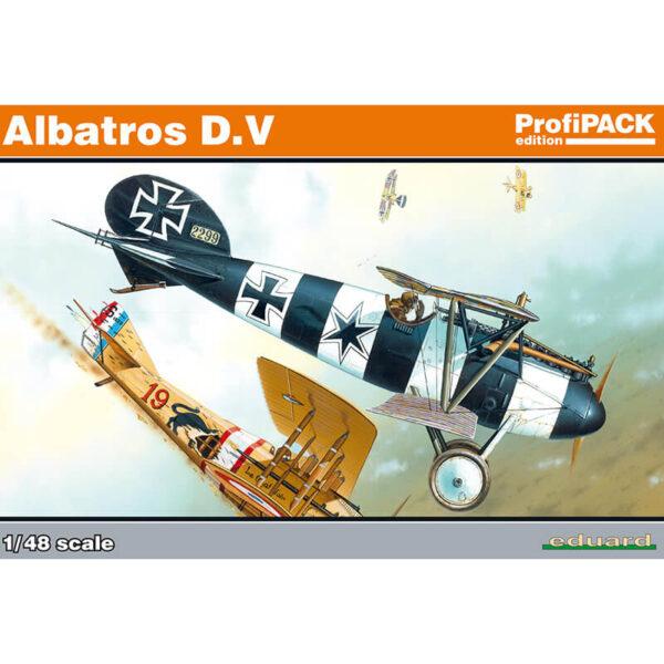 eduard 8113 Albatros D.V profiPACK 1/48 Kit en plástico para montar y pintar. Incluye fotograbados y mascarillas. Hoja de calcas con 5 decoraciones.