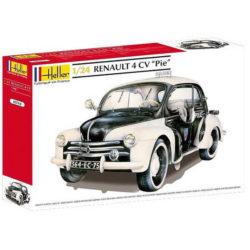 heler 80764 Renault 4 CV -Pie- 1/24 Kit en plástico para montar y pintar. Piezas 99