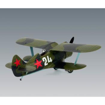 icm 48095 I-153 Chaika WWII Soviet Biplane Fighter Kit en plástico para montar y pintar este famoso biplano soviético de la 2ªGM.