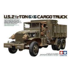 tamiya 35218 US 2,5 Ton 6x6 Cargo Truck Kit en plástico para montar y pintar.