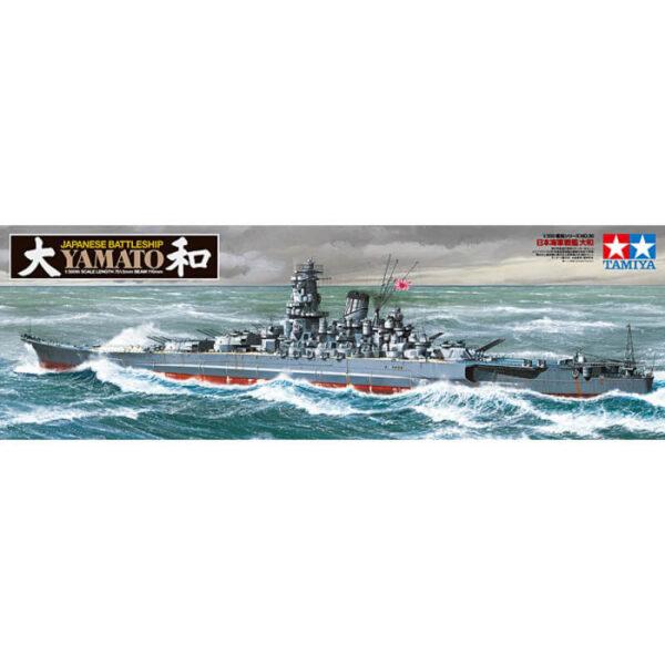tamiya 78030 Yamato Japanese Battleship 1/350 Kit en plástico para montar y pintar. Se puede montar con el casco completo o cortado por la linea de flotación