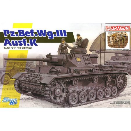 Dragon 6853 Pz.Bef.Wg.III Ausf.K + Commanders Conference Kharkov 1943 Kit en plástico para montar y pintar. Incluye fotograbados y 4 figuras.