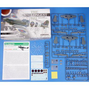 eduard 2125 The Longest Day DUAL COMBO Spitfire Mk.IX Kit en plástico para montar y pintar en edición limitada. Incluye piezas en resina, fotograbado y mascarillas.