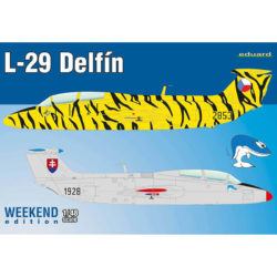 eduard 8464 L-29 Delfín Weekend Edition Kit en plástico para montar y pintar un avión Checoslovaco de entrenamiento L-29 Delfin. Hoja de calcas con 2 decoraciones: