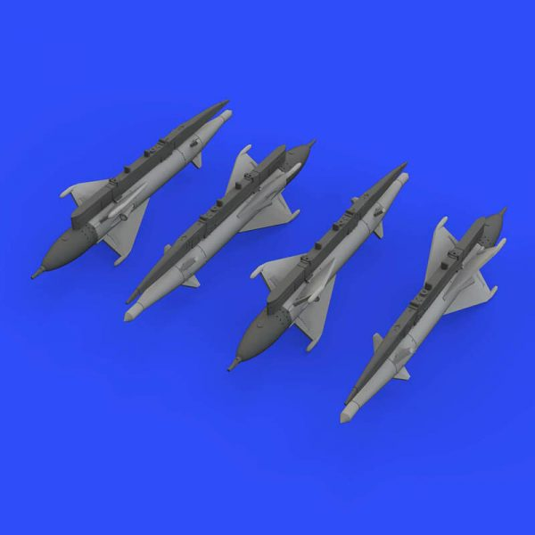 eduard brassin 672191 RS-2US missiles for MiG-21 1/72 Kit en resina del misil guiado aire-aire RS-2US para el MIG-21eduard brassin 672191 RS-2US missiles for MiG-21 1/72 Kit en resina del misil guiado aire-aire RS-2US para el MIG-21